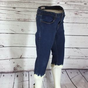 Tattered by Deja Vu Designs Jeans - Tattered And Bleached Jean Capris